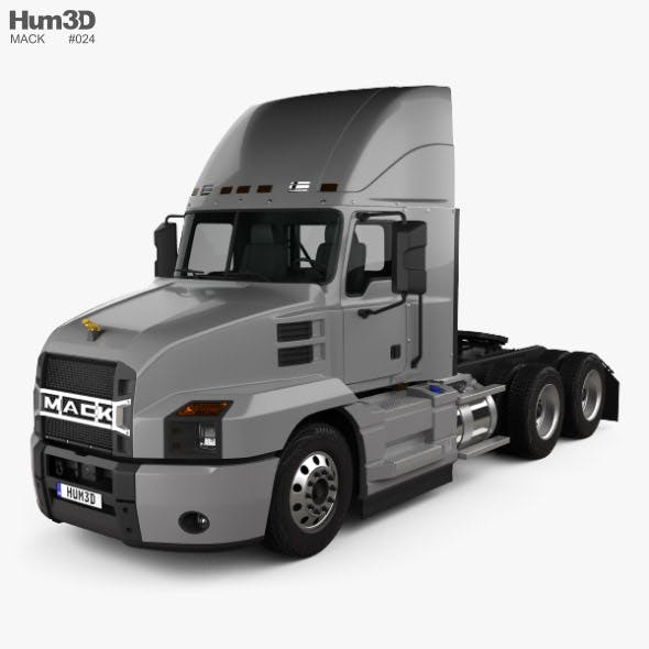 Mack Anthem Day Cab High Rise Tractor Truck 2018 - 3DOcean Item for Sale