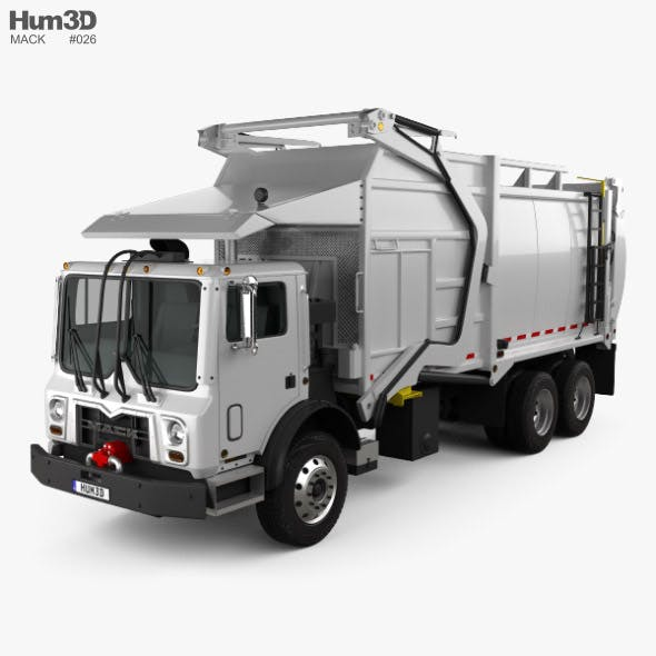 Mack TerraPro MRU613 Garbage Hercules Truck 2017 - 3DOcean Item for Sale