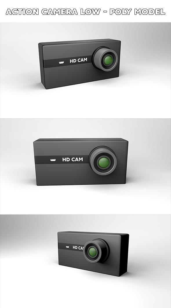 Low - Poly Action Camera - 3DOcean Item for Sale
