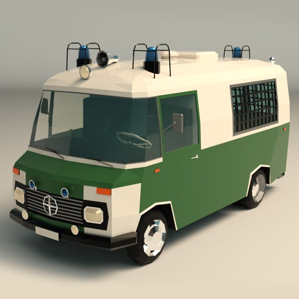 Low Poly Police Car 02 - 3DOcean Item for Sale