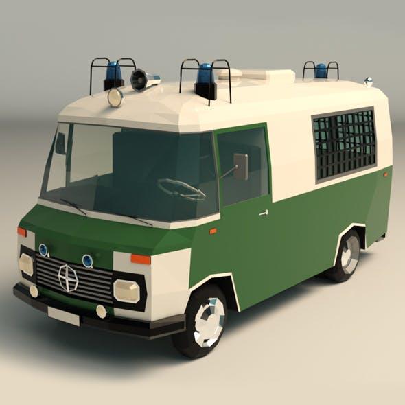 Low Poly Police Car 02