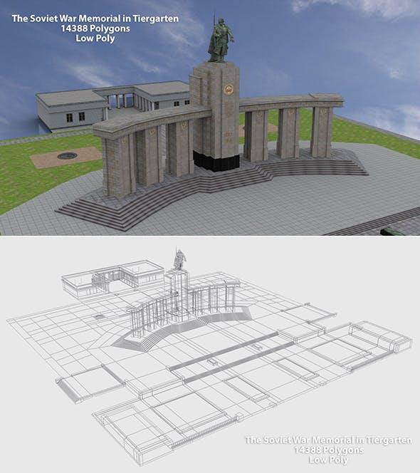Soviet War Memorial in Tiergarten 3D Model - 3DOcean Item for Sale