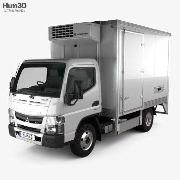 Mitsubishi Fuso Canter City Cab Refrigerator Truck 2016 - 3DOcean Item for Sale