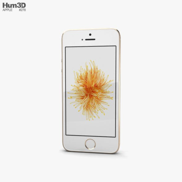 Apple iPhone SE 2 Gold - 3DOcean Item for Sale