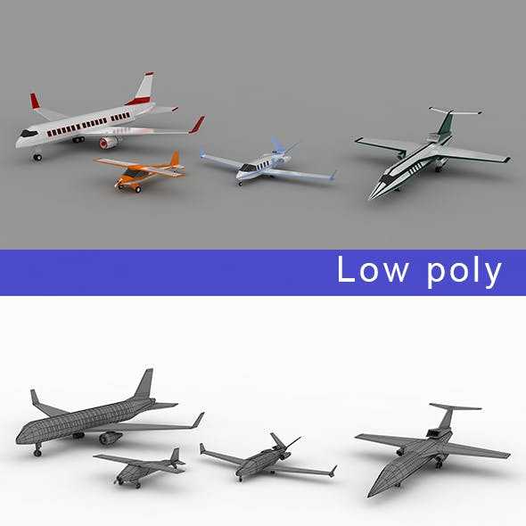 Low-poly Air vehicles Planes