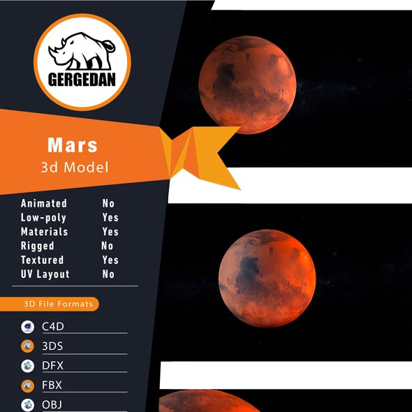 Realistic 8k Mars