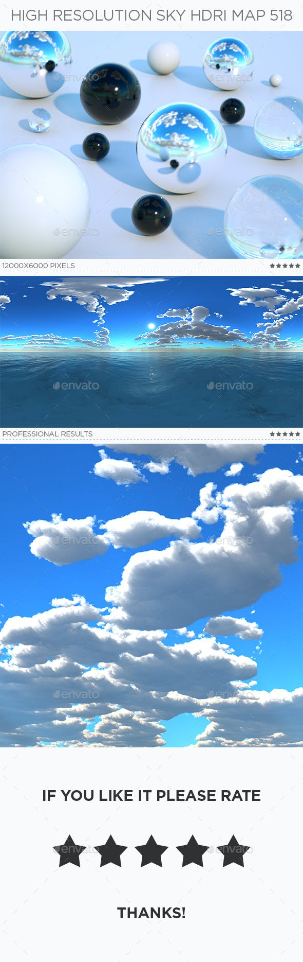 High Resolution Sky HDRi Map 518 - 3DOcean Item for Sale