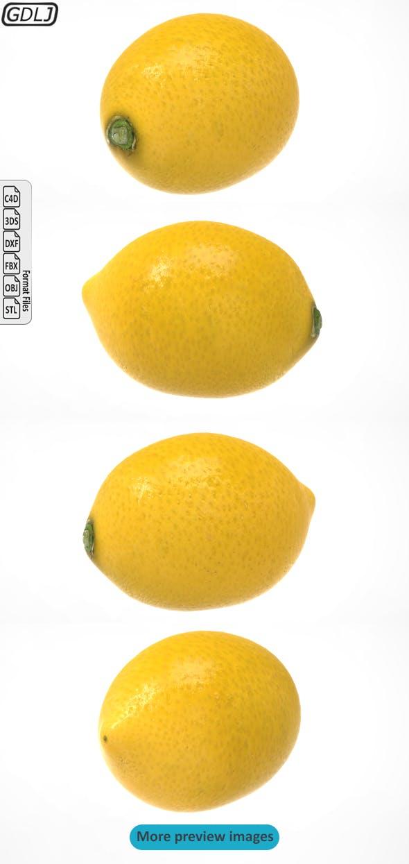 Lemon - Realistic 3D model - 3DOcean Item for Sale