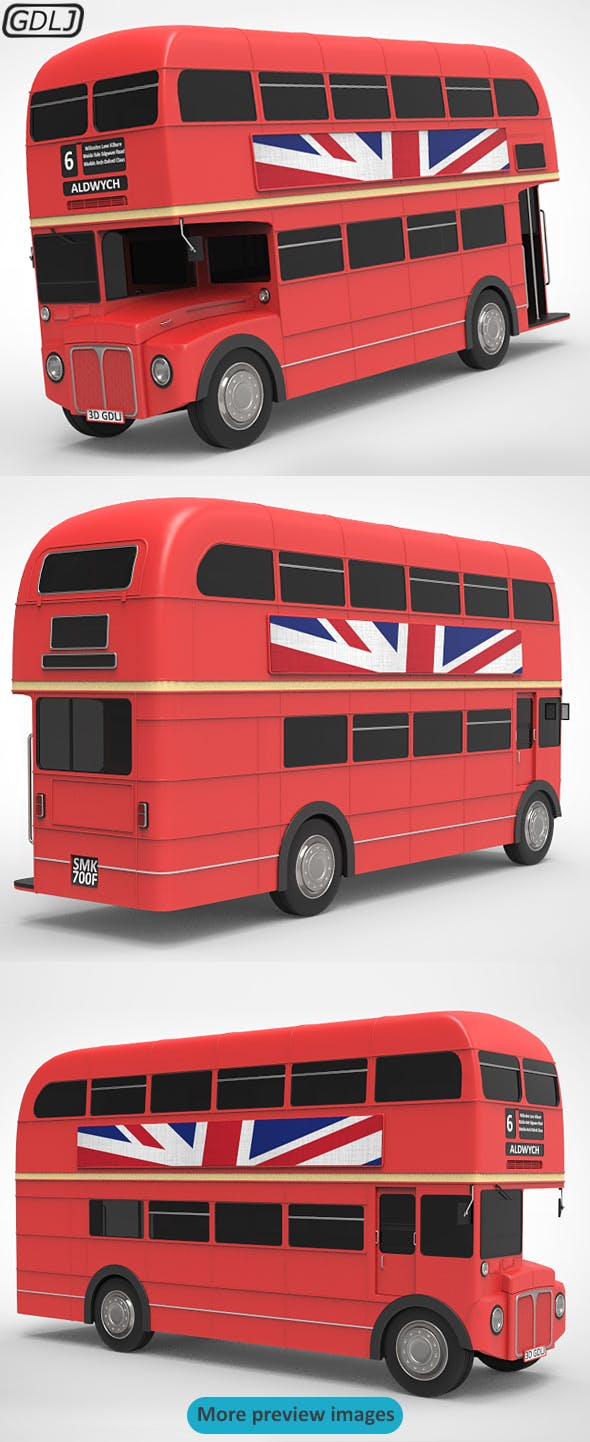 Routemaster Bus Classic - 3DOcean Item for Sale