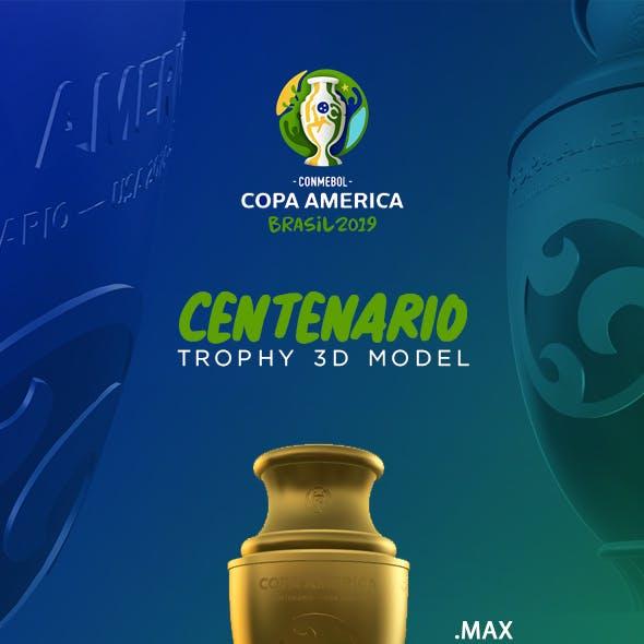 Copa America Trophy 3D Model