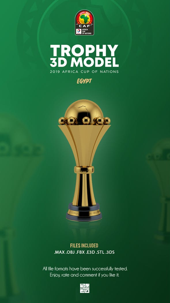 The African Cup Trophy 3D Model - 3DOcean Item for Sale