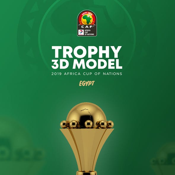 The African Cup Trophy 3D Model