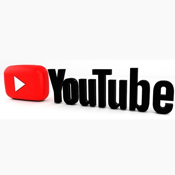 YouTube Logo 3D model - 3DOcean Item for Sale
