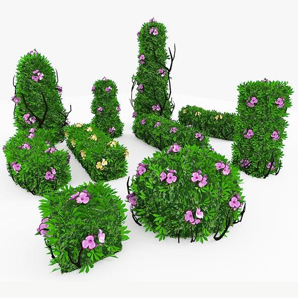 bushes_flowers - 3DOcean Item for Sale