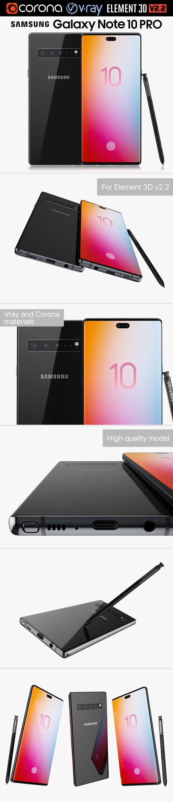 Samsung Galaxy Note 10 PRO - 3DOcean Item for Sale