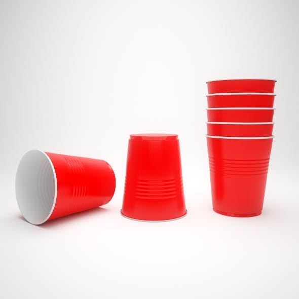 plastic cup - 3DOcean Item for Sale