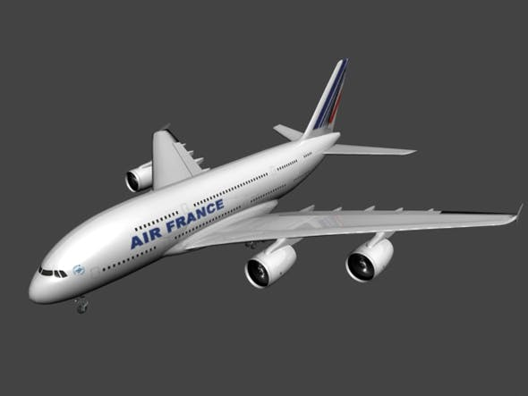 A380 plane - 3DOcean Item for Sale