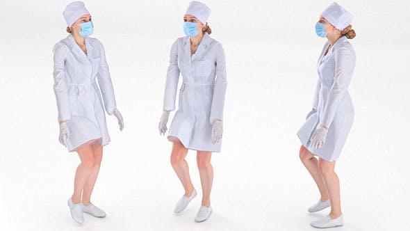 Rigged scan medical nurse 01 - 3DOcean Item for Sale