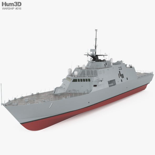 USS Freedom (LCS-1) - 3DOcean Item for Sale