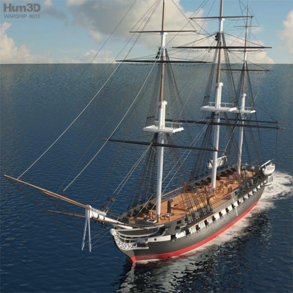 USS Constitution - 3DOcean Item for Sale