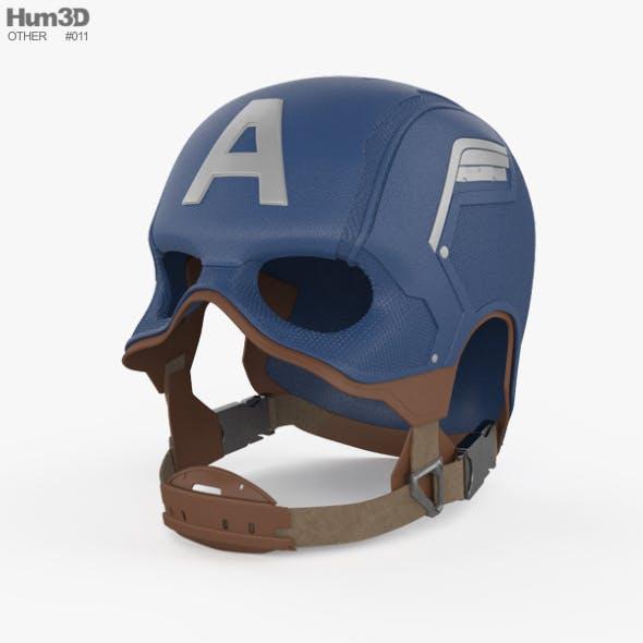 Captain America Helmet - 3DOcean Item for Sale