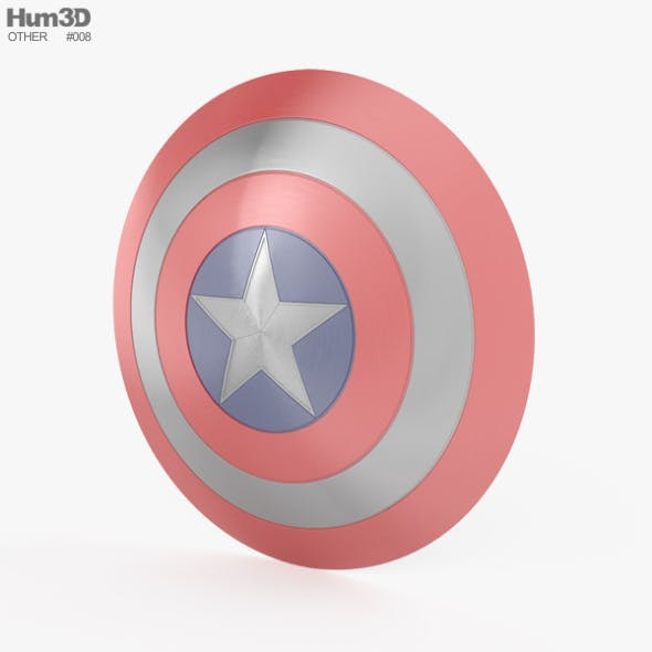 Captain America Shield - 3DOcean Item for Sale