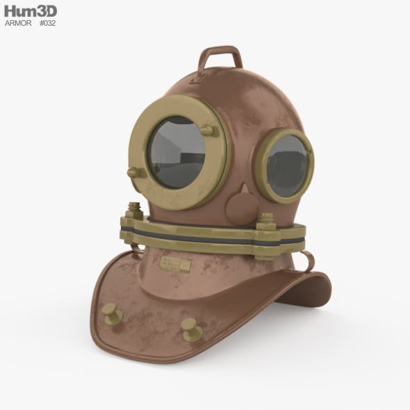 Three bolt diving helmet - 3DOcean Item for Sale