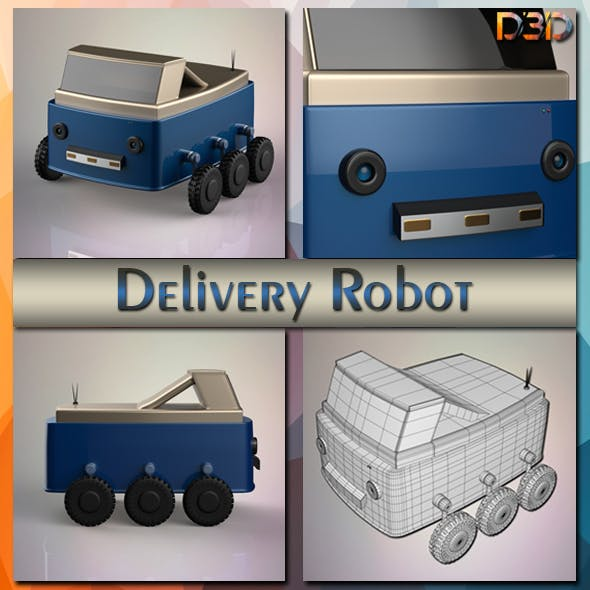 Delivery Robot - 3DOcean Item for Sale