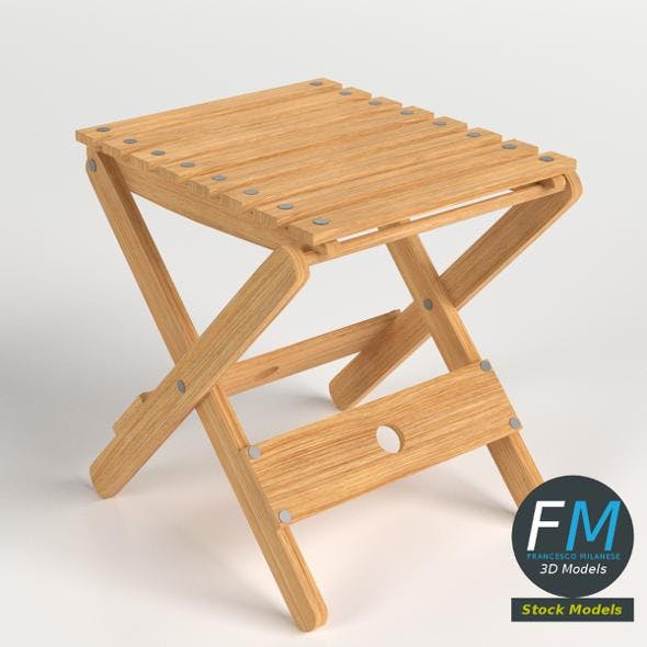 Folding stool 2 - 3DOcean Item for Sale