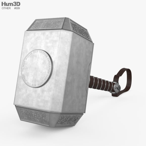 Thor Hammer - 3DOcean Item for Sale