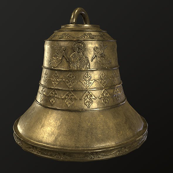 church bell Low-poly - 3DOcean Item for Sale