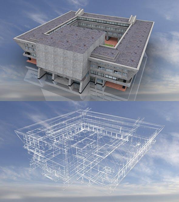Soviet City Hall 3D Model - 3DOcean Item for Sale