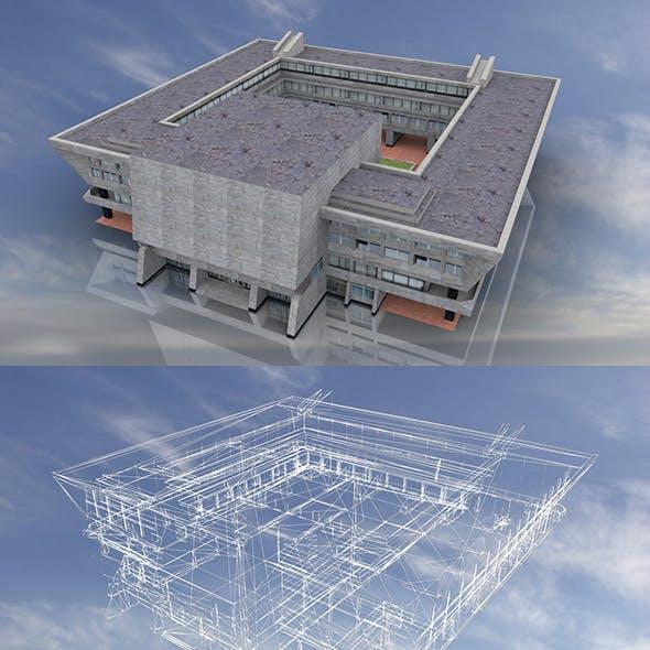 Soviet City Hall 3D Model