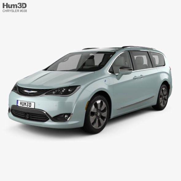 Chrysler Pacifica Hybrid with HQ interior 2017 - 3DOcean Item for Sale