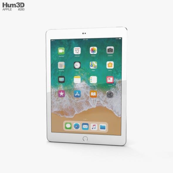 Apple iPad 9.7-inch (2018) Cellular Silver - 3DOcean Item for Sale