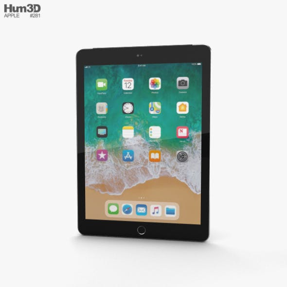 Apple iPad 9.7-inch (2018) Cellular Space Gray - 3DOcean Item for Sale