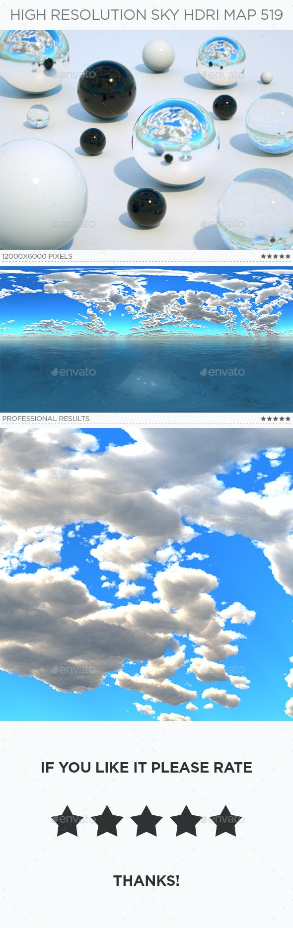 High Resolution Sky HDRi Map 519 - 3DOcean Item for Sale
