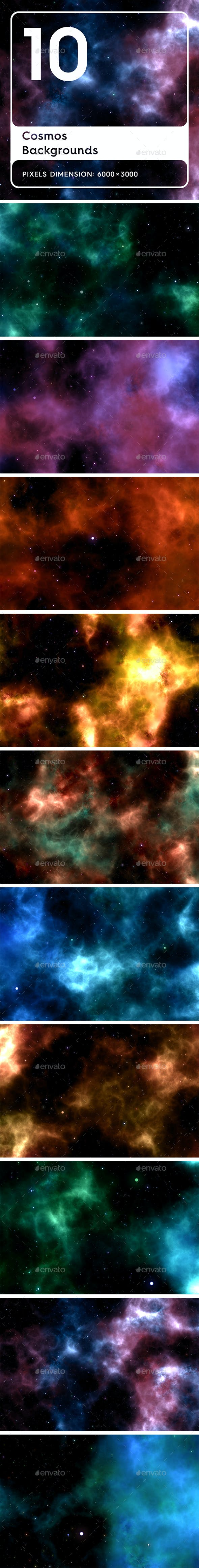 20 Cosmos Backgrounds - 3DOcean Item for Sale