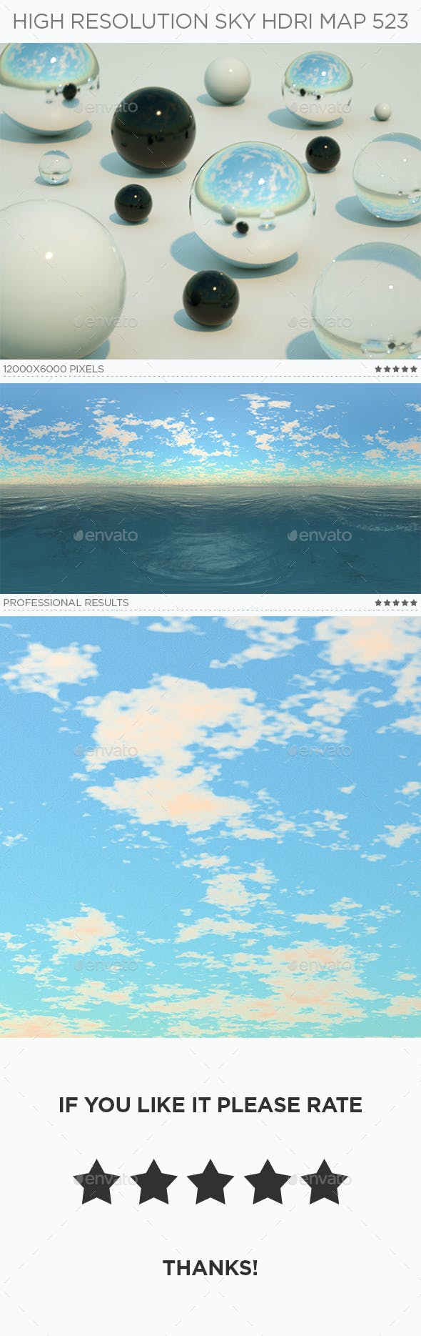 High Resolution Sky HDRi Map 523 - 3DOcean Item for Sale