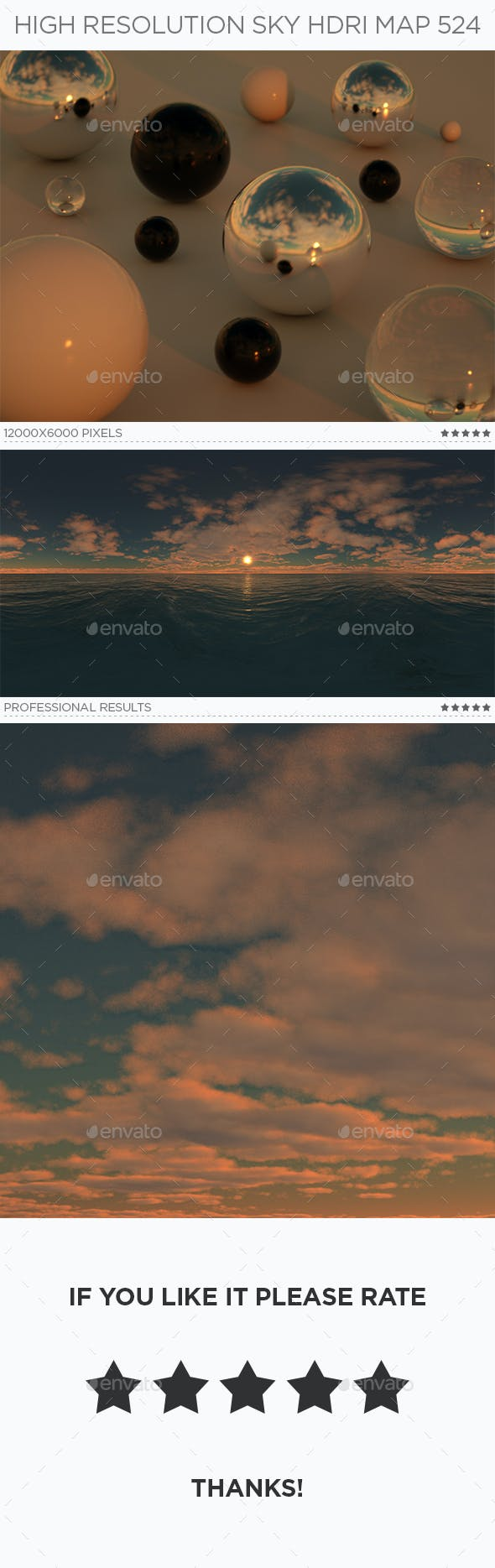 High Resolution Sky HDRi Map 524 - 3DOcean Item for Sale