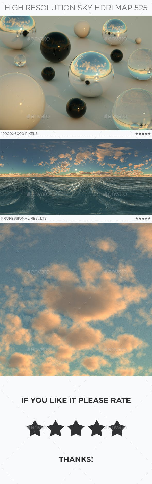 High Resolution Sky HDRi Map 525 - 3DOcean Item for Sale