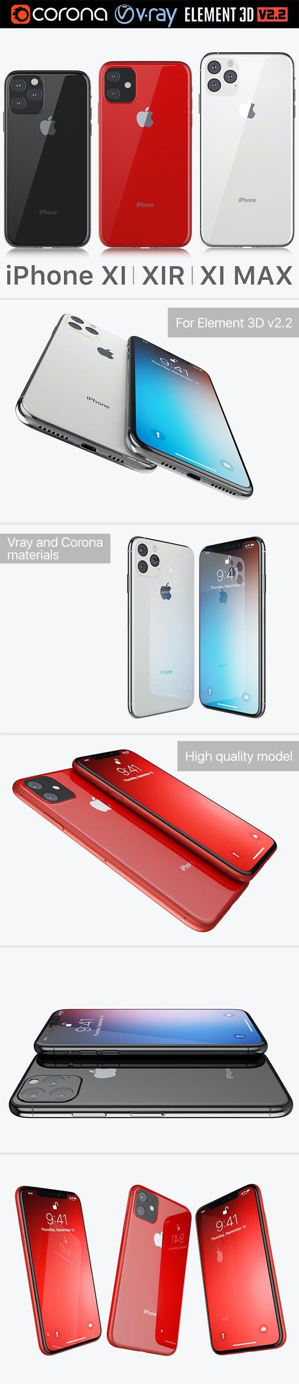 Apple iPhone XI & XI MAX & XIR 2019 - 3DOcean Item for Sale