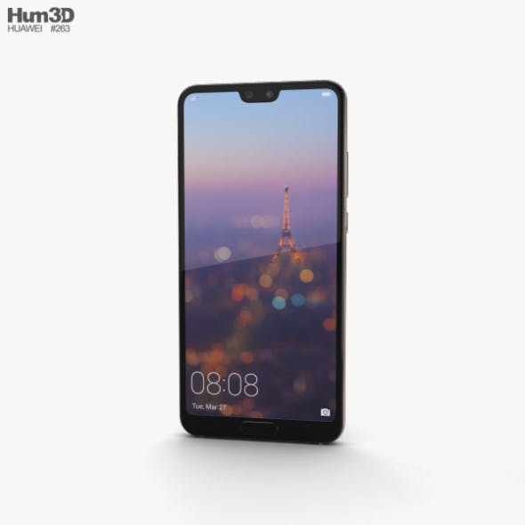 Huawei P20 Champagne Gold - 3DOcean Item for Sale