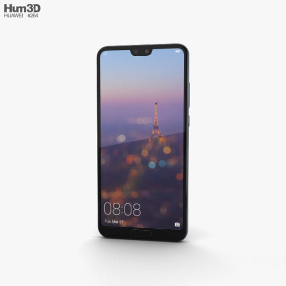 Huawei P20 Midnight Blue - 3DOcean Item for Sale