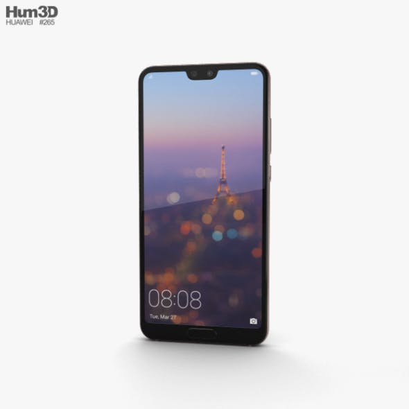 Huawei P20 Pink Gold - 3DOcean Item for Sale