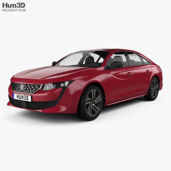 Peugeot 508 liftback GT 2018 - 3DOcean Item for Sale
