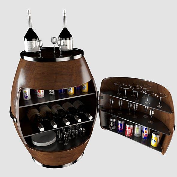 Vodka Bar cabinet 3D model by nextstudio2019 | 3DOcean