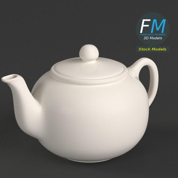 Porcelain teapot 1 - 3DOcean Item for Sale