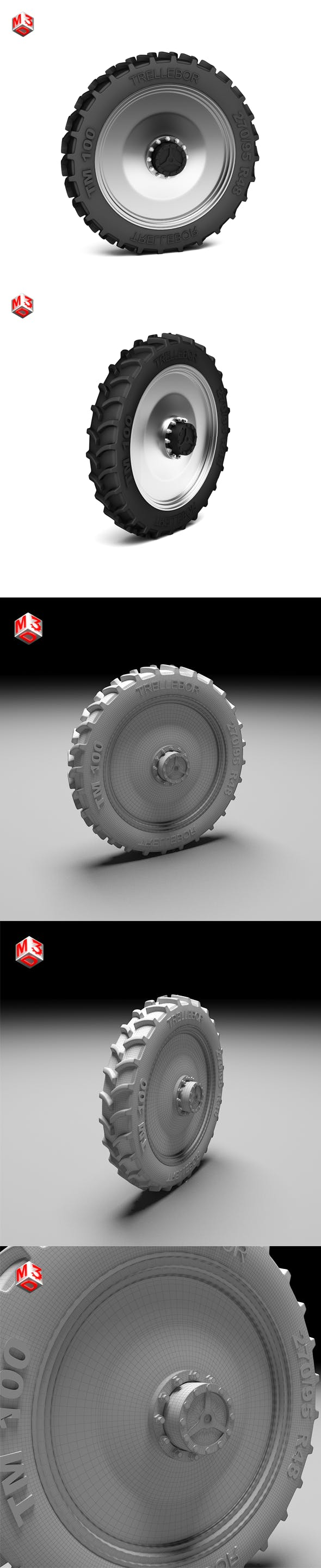 Tractor Tire - 3DOcean Item for Sale