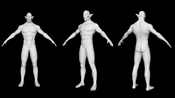 Goblin (3D Model) High Poly Base Mesh - 3DOcean Item for Sale